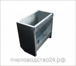 Бункерная кормушка для кроликов из оцинковки, 5 кг