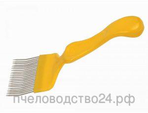 Вилка для распечатки сотов «Европа» с гнутой иглой с пластиковой ручкой