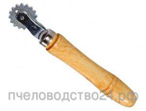 Каток для наващивания рамок с деревянной ручкой и оцинкованной шпорой