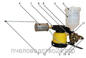 """Устройство для окуривания пчел при вароатозе. """"ВАРОМОР"""" """" VAROMOR """", """"ДЫМ-ПУШКА"""""""