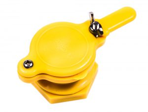 Кран - задвижка пластиковый для медогонок с отверстием 45 мм (красный)