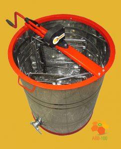 Медогонка с поворотом кассет 2-х рамочная алюминиевая