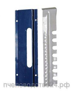 Летковый заградитель 2-х элементный верхний с полимерным покрытием с отверстиями и загнутым краем