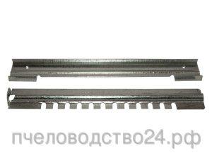 Летковый заградитель 2-х элементный нижний оцинкованный без отверстий и с загнутым краем