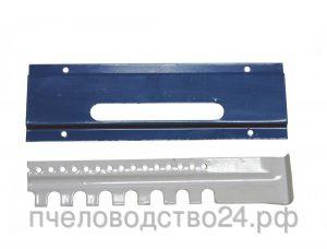Летковый заградитель 2-х элементный нижний с полимерным покрытием с отверстиями