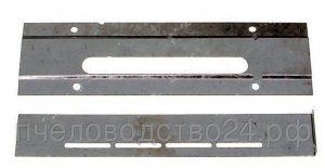 Летковый заградитель 2-х элементный верхний оцинкованный с отверстиями для вентиляции и загнутым кр.