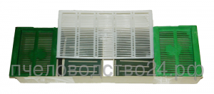 Кормушка - прополисосборник для пчел потолочная с 2 сетками для сиропа и 2 плотиками 2.2 л