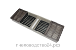 Кормушка для пчел потолочная двухсторонняя 2.2 л со стеклянной крышкой с 2 сетками для сиропа без плотиков