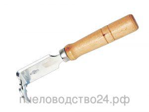 Стамеска - гвоздодер для чистки рамок с прорезью для вощины