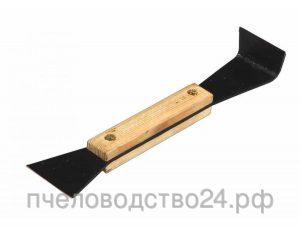 Стамеска 2x45x215 мм деревянная ручка, металл.