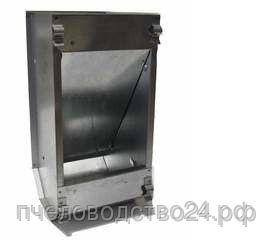 Кормушка бункерная оцинкованная металлическая однасекционная с крышкой для кроликов