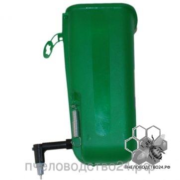 Ниппельная поилка с бачком зеленая, 1 л