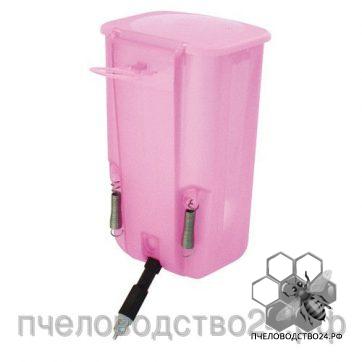 Ниппельная поилка с бачком розовая, 1л