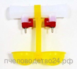 Ниппельная поилка двойная с каплеуловителем НП 24/360