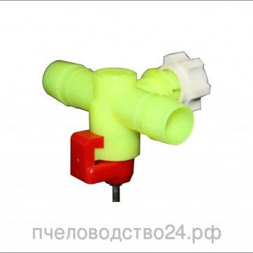 Поилка для птиц ПКНС-8 с креплением на сетку под шланг 14 мм
