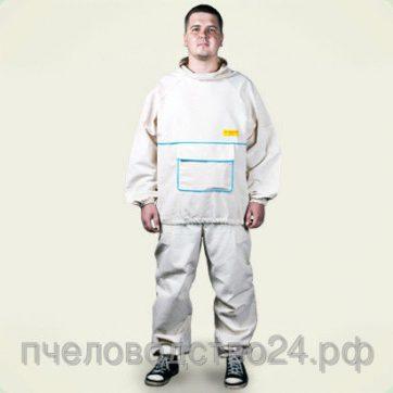 Костюм пчеловода льняной (куртка+штаны) размер 58