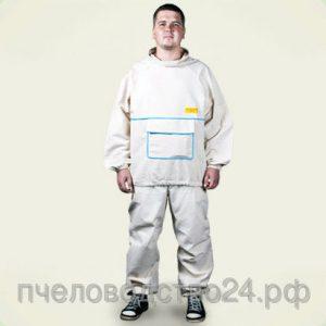 Костюм пчеловода льняной (куртка+штаны) размер 62