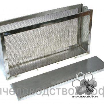Изолятор для маток 2-х рамочный с сеткой из нержавейки оцинкованный «Рута»