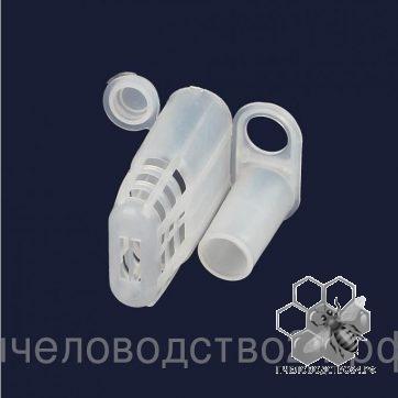 Клеточка для подсадки пчелиной матки пластмассовая белая