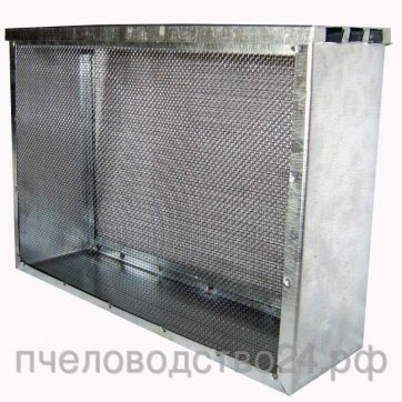 Изолятор сетчатый оцинкованный 2-х рамочный Дадан (сетка н/ж)