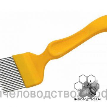 Вилка для распечатывания сот «Европа» из с прямой иглой с ручкой из пластика