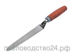 Нож пасечный «Профи» 180 мм зауженный на конце (марка стали 40Х13) толщина металла 0,8 мм