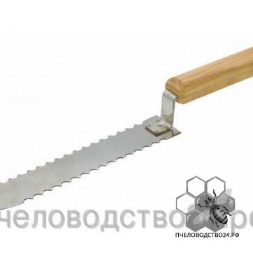Нож пасечный зубчатый 200 мм из нержавейки