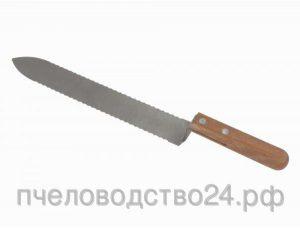 Нож пасечный зубчатый c односторонней нижней заточкой «Европа» 235 мм