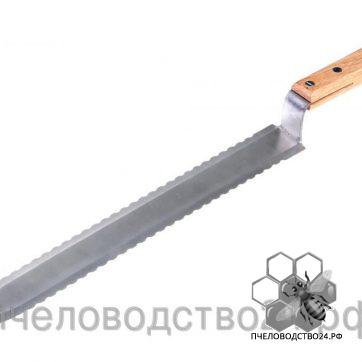 Нож пчеловодный зубчатый 280 мм c двусторонней заточкой