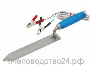 Нож электрический для распечатки сотов (марка стали 65Г), 12 Вольт, мощность 25 Вт