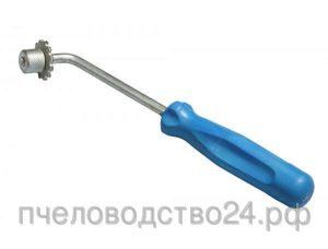 Каток для наващивания рамок со шпорой с ручкой из пластика