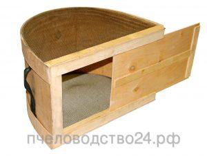 Роевня для пчел полукруглая с металлической сеткой