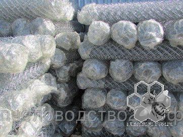Сетка плетеная Рабица оцинкованная, размер 1,8х10,0м м2 15 метров рулон