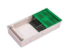 Кормушка для пчел потолочная со стеклянной крышкой и сеткой для сиропа 1,3 л