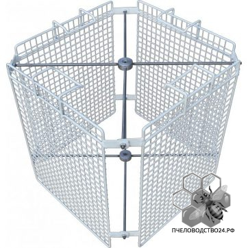 Корзина для медогонки на 4 рамки из пластика