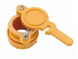 Кран - задвижка нейлоновый для медогонок с отверстием 45 мм желтый