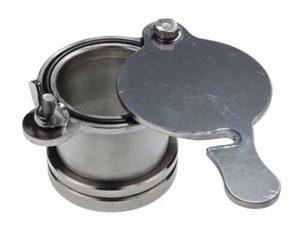 Кран - задвижка сливной для медогонки из нержавеющей стали с резьбой
