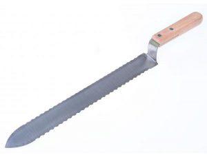 Нож пасечный «Европа» зубчатый 280 мм c односторонней нижней заточкой