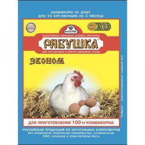 Рябушка Премикс концентрат (Эконом) для кур и домашней птицы, 150г