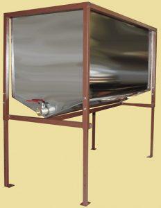 Стол оцинкованный для распечатки и хранения подготовленных для качки мёда рамок,на 24 рамки