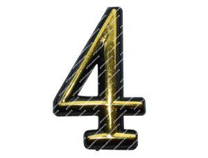 Цифра для улья пластмассовая «4»