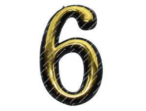 Цифра для улья пластмассовая «6»