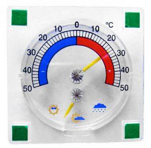 Термометр для окон на 4-х «липучках» с указателем погоды. ТС22