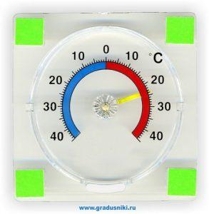 Термометр для пластиковых и деревянных окон ТС-21