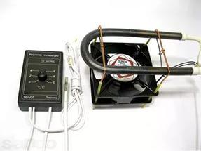 Терморегулятор ТРо-02 для погреба, овощехранилища, омшаника,с одним ТЭн 1х250 Вт и тепловентилятором