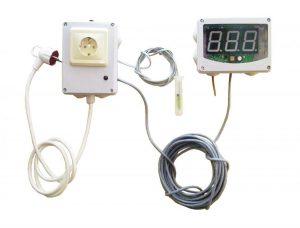 Терморегулятор - гигрометр для зимовки пчел в омшанике