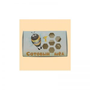 Упаковка для секционного мёда «с пчёлкой» - 25 штук
