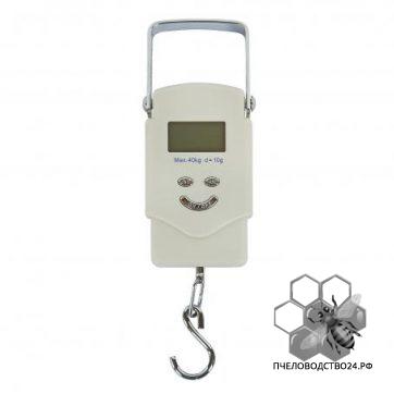 Весы для пасеки электронные подвесные с металлической ручкой до 40 кг