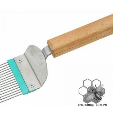 Вилка для распечатывания сот нж прямая игла деревянная ручка1